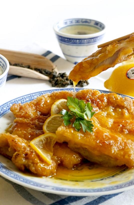 Fried Chicken in Honey Lemon Sauce_1